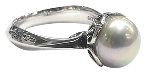 Ann King Ann King Sterling Silver Ring With Round Pearl