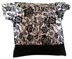 Cato Top Black/white pattern