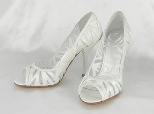 Badgley Mischka Badgley Mischka M1023 Shaina White Silk Satin Bridal Shoes Wedding Shoes