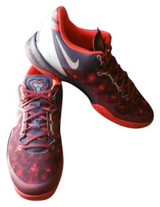 2013 Nike Zoom KOBE VIII SYSTEM PORT WINE RED PLATINUM CRIMSON CAMO YOTS ZS 10.5 Athletic