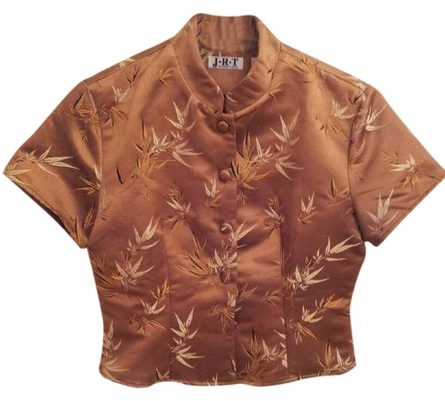 Preload https://item4.tradesy.com/images/jrt-by-newport-news-vintage-top-sable-brown-with-pattern-968188-0-0.jpg?width=400&height=650