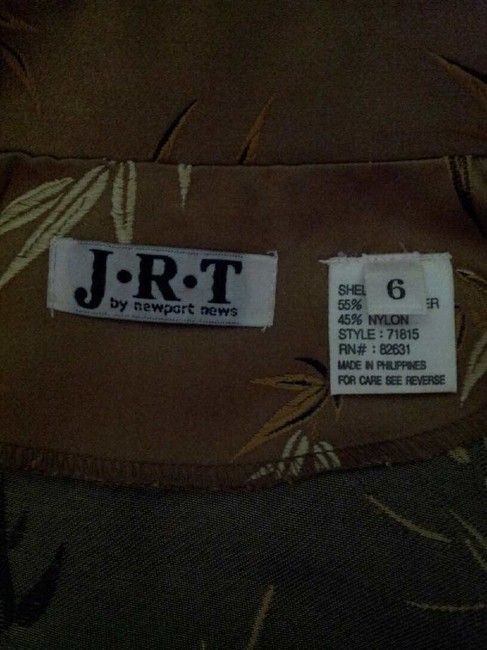 JRT by Newport News Vintage Top Sable Brown with Pattern