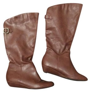 Mossimo Supply Co. Buckle Knee High Brown Boots