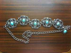 Other Turquoise and Silver Medallion Belt