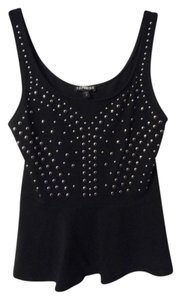 Express Peplum Studded Top Black