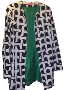 Isaac Mizrahi New With Tags Size 2 Black and White Iconic Pattern Blazer
