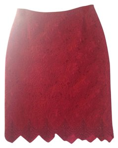 Carmen Marc Valvo Skirt Red