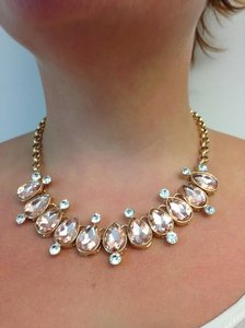 Isis Sale 33% Off -- Classic Pink And Sparkling Crystal Necklace And Earrings Set.