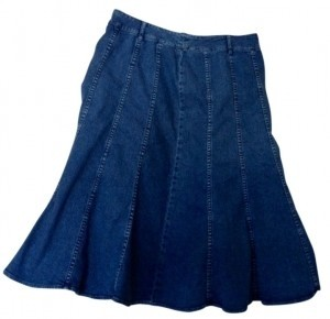Charter Club Skirt blue denim