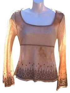 Fang Preowned Long Sleeve Top Brown