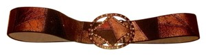 Chico's Chico's Gold/ Copper Pathwork Look Belt With Rhinestone Buckle