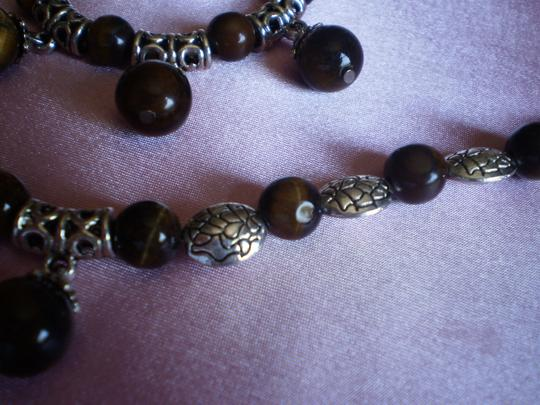 Other South African Tigers Eye Necklace, Earrings and Bracelet