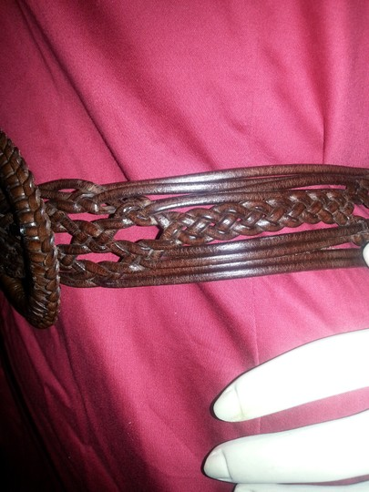 Other Brown woven leather belt