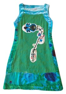 Custo Barcelona Velvet Embroidered Sequin Dress