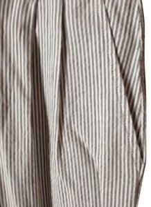 Organic john Patrick Light Weight Never Worn Straight Pants Grey and white stripes