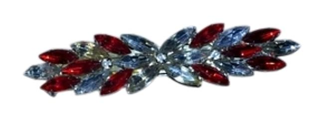 Item - Red/White/Yellow Stones Vintage Barette Hair Accessory