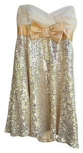Betsey Johnson Gold Sequin Dress