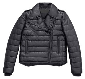 Alexander Wang Leather Padded black Leather Jacket