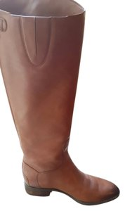 Sam Edelman Penny Black Leather Riding Brown Boots