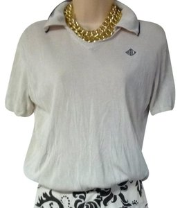 Ralph Lauren Polo Silk Knit Polo Mint Size M Top Cream
