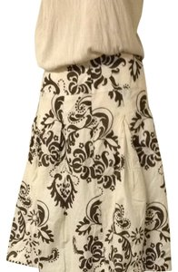 Autograph Skirt Cream And Brown