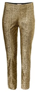 H&M Straight Pants Gold
