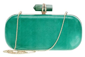 Marchesa Snakeskin Green Clutch