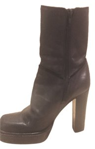 Nine West Ankle/calf Low Calf Heels Black True Leather Boots