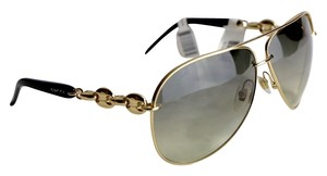 Gucci * Gucci Gold Tone Marina Chain Sunglasses