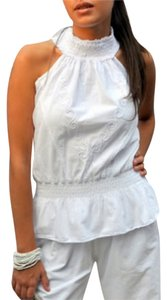 Lirome Summer Bohemian Resort Top White
