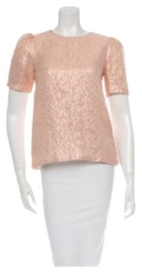 Kate Spade Glitter Holiday Party Top Rose gold
