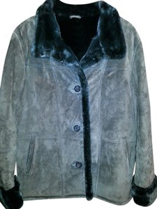 Gallery Leather Color Warm Faux Shearling Coat