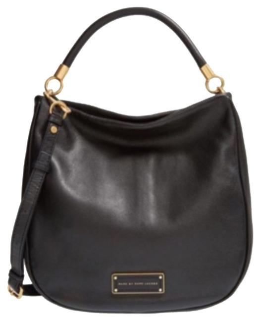 Item - Too Hot To Handle Black and Gold Leather Hobo Bag