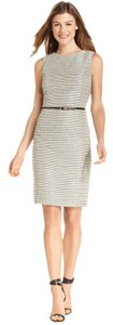 Calvin Klein Sheath Sleeveless Tweed Dress