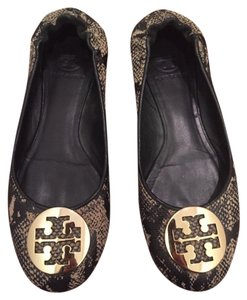 Tory Burch Brown Snake Flats