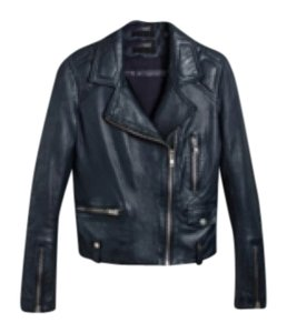 DOMA Navy Leather Jacket