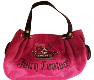 Juicy Couture Tote in vibrant hot pink