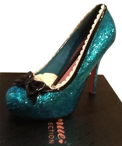 Leg Avenue Glitter Princess Heels Blue Pumps