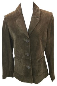 Kenneth Cole Reaction Suede BROWN Leather Jacket