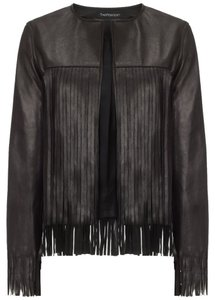 Theperfext Leather Leather Fringe Leather Jacket