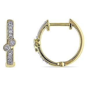 Amour Amour 14k Yellow Gold 110 Ct Tdw Diamond Hoop Earrings G-hi1-i2