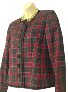 Pendleton Cute Tartan Like New Size 12 Petite red tartan Blazer