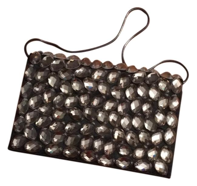 Item - Black Beads and Satin Clutch