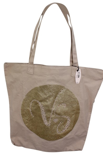 Item - With Vs New with Tags Tan and Gold Tote