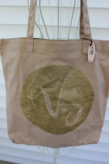 Victoria's Secret Tote in Tan And Gold