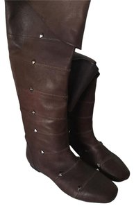 Botkier Studded Leather Boot Brown Boots
