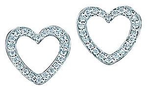 Tiffany & Co. Tiffany and Co Metro Diamond Heart Earrings
