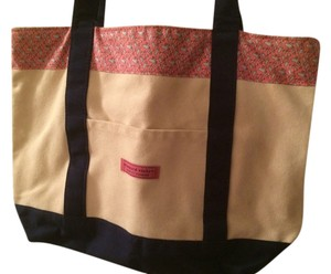 Vineyard Vines Tote in Tan - pink trim with cosmopolitans and shakers