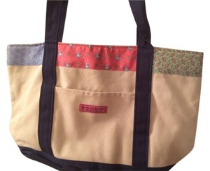 Vineyard Vines Tote in Tan - patchwork trim