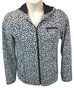 Chico's Animal Print Hooded Jacket Jacket
